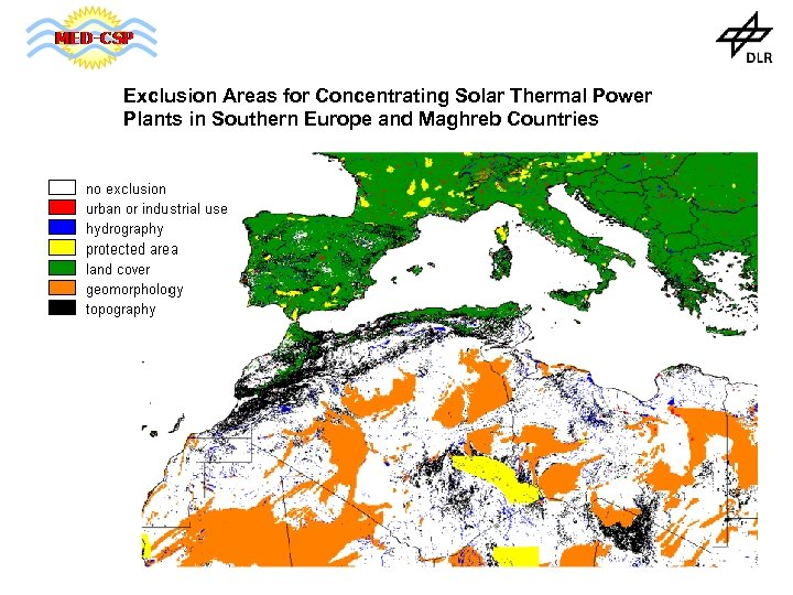 Exclusion Areas for Concentrating Solar Thermal Power Plants in Southern Europe and Maghreb Countries