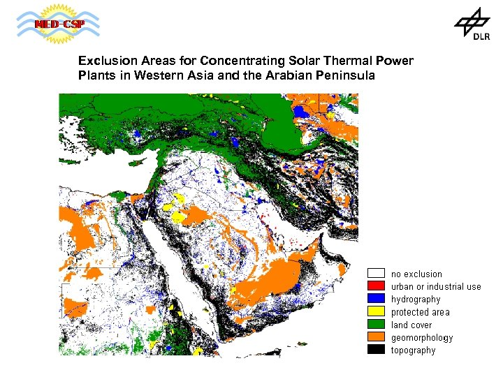 Exclusion Areas for Concentrating Solar Thermal Power Plants in Western Asia and the Arabian