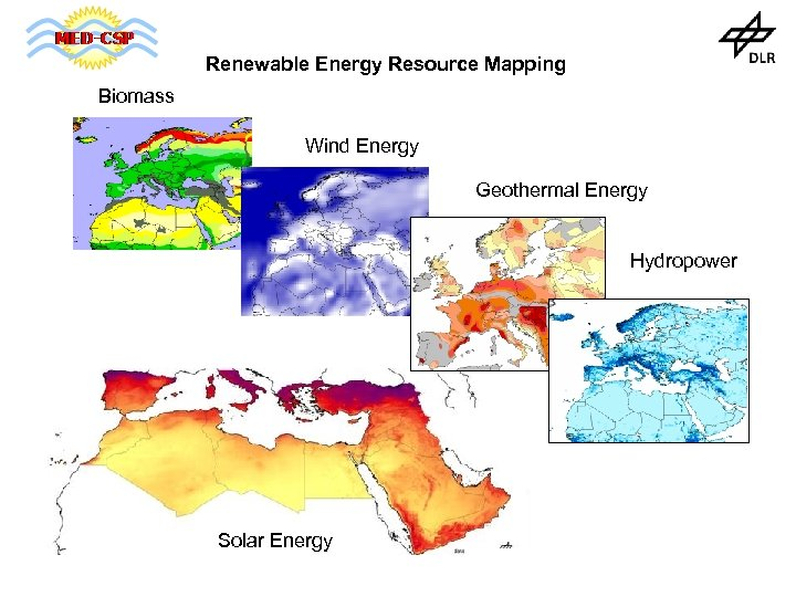Renewable Energy Resource Mapping Biomass Wind Energy Geothermal Energy Hydropower Solar Energy