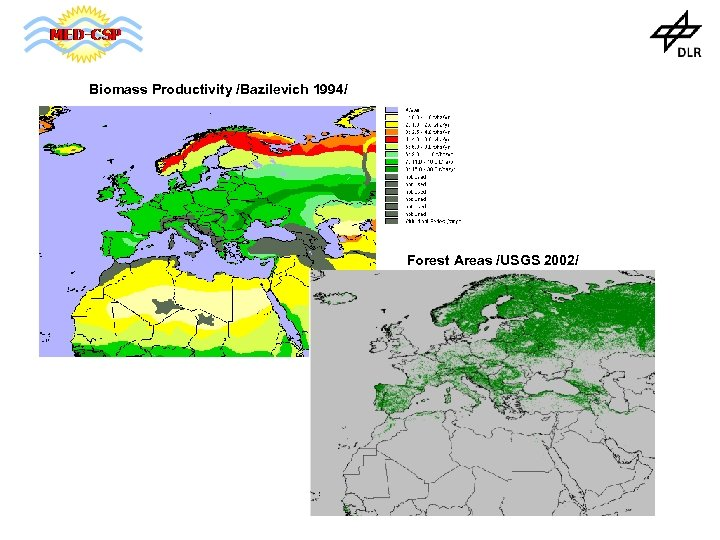 Biomass Productivity /Bazilevich 1994/ Forest Areas /USGS 2002/
