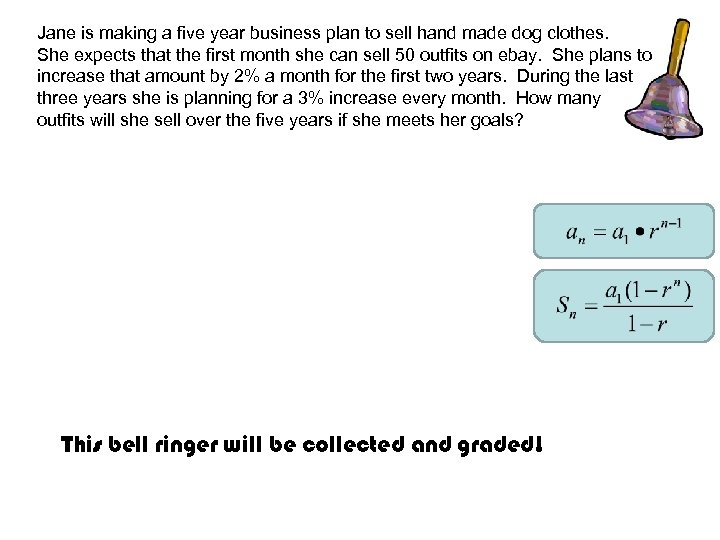 Jane is making a five year business plan to sell hand made dog clothes.