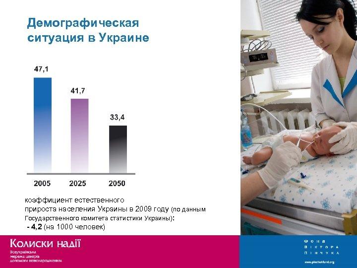 Демографическая ситуация в Украине коэффициент естественного прироста населения Украины в 2009 году (по данным