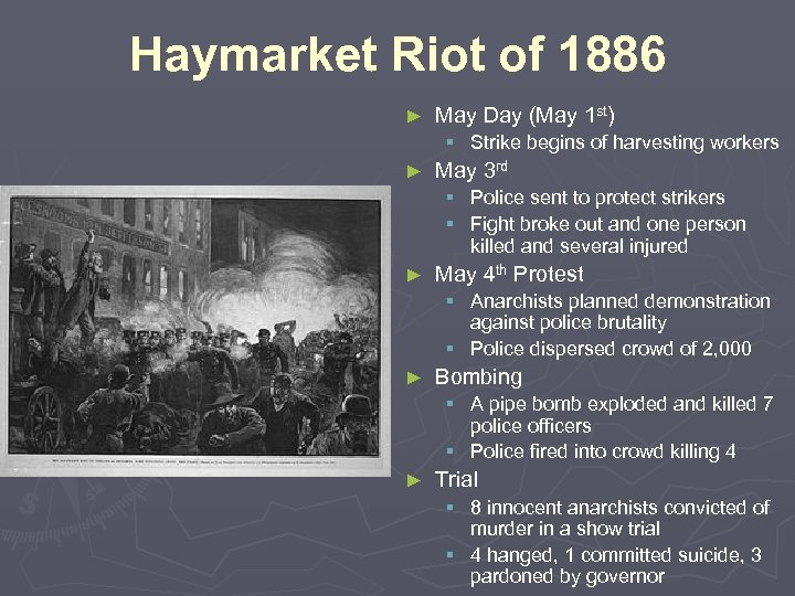 Haymarket Riot of 1886 ► May Day (May 1 st) § Strike begins of