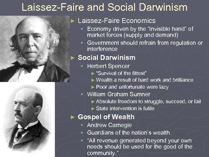 """Laissez-Faire and Social Darwinism ► Laissez-Faire Economics § Economy driven by the """"invisible hand"""""""