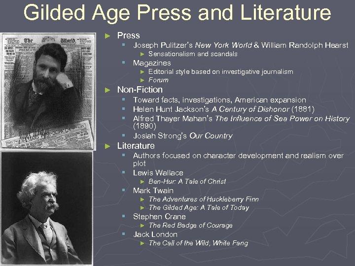 Gilded Age Press and Literature ► Press § Joseph Pulitzer's New York World &