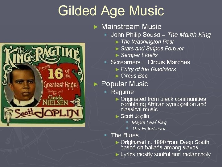 Gilded Age Music ► Mainstream Music § John Philip Sousa – The March King