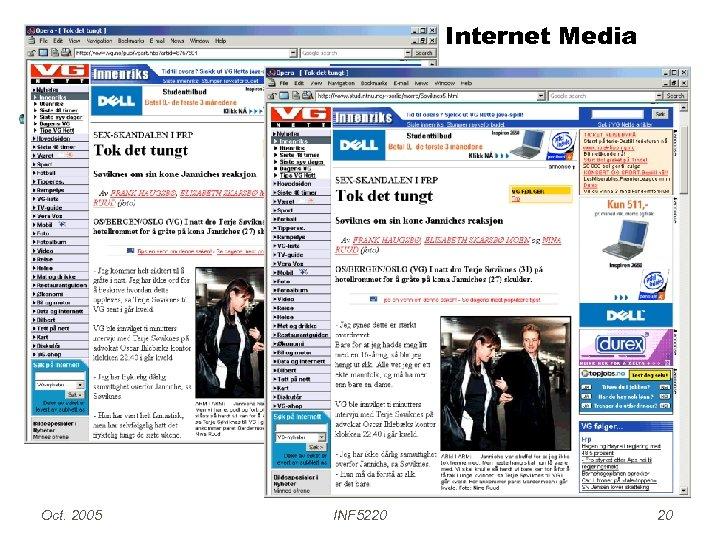 Internet Media Oct. 2005 INF 5220 20