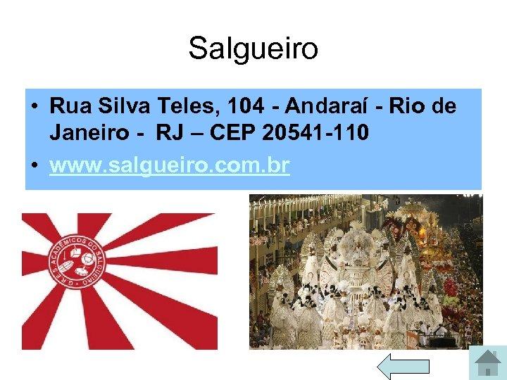 Salgueiro • Rua Silva Teles, 104 - Andaraí - Rio de Janeiro - RJ