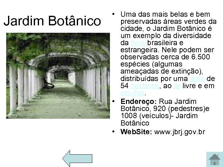 Jardim Botânico • Uma das mais belas e bem preservadas áreas verdes da cidade,
