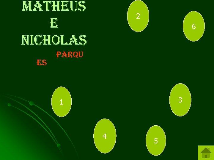 Matheus e Nicholas es 2 6 parqu 3 1 4 5