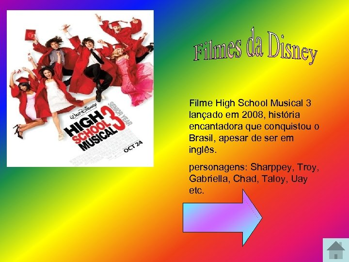 Filme High School Musical 3 lançado em 2008, história encantadora que conquistou o Brasil,