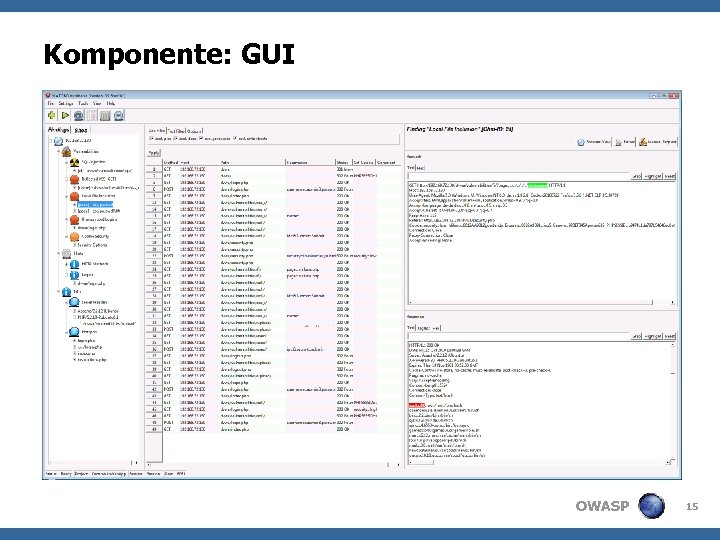 Komponente: GUI OWASP 15