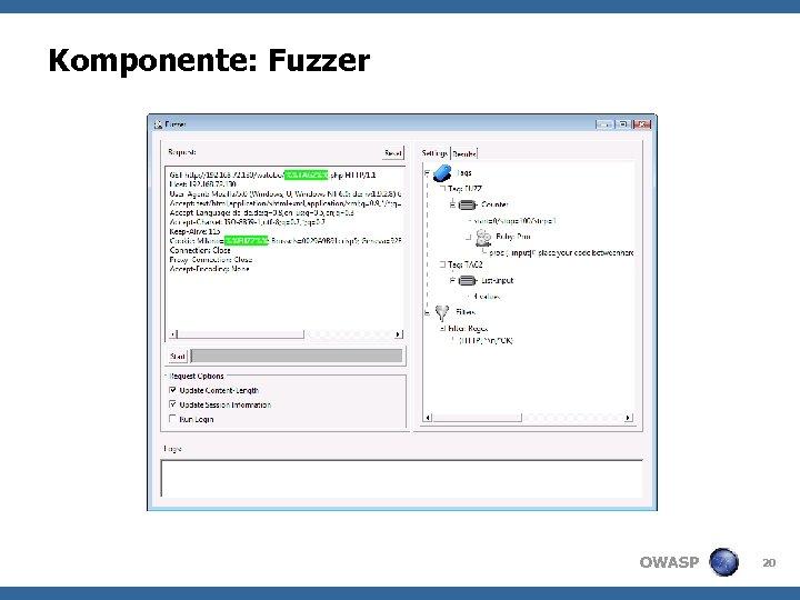 Komponente: Fuzzer OWASP 20