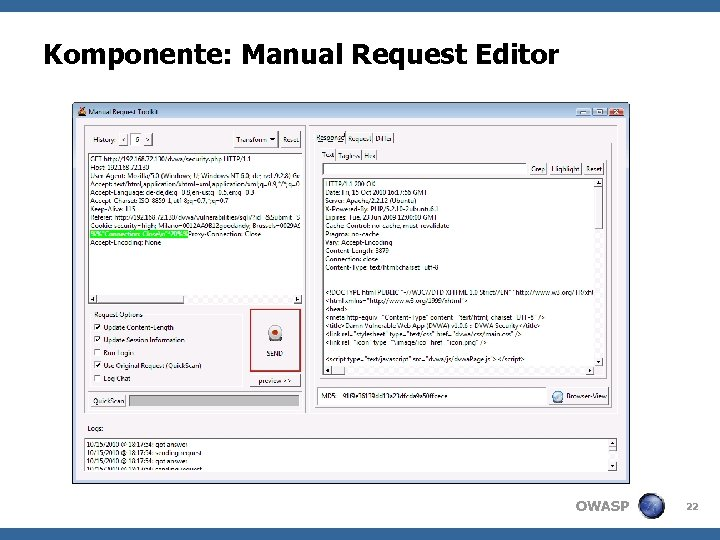 Komponente: Manual Request Editor OWASP 22
