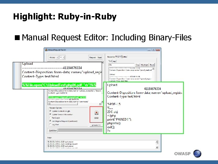 Highlight: Ruby-in-Ruby <Manual Request Editor: Including Binary-Files OWASP