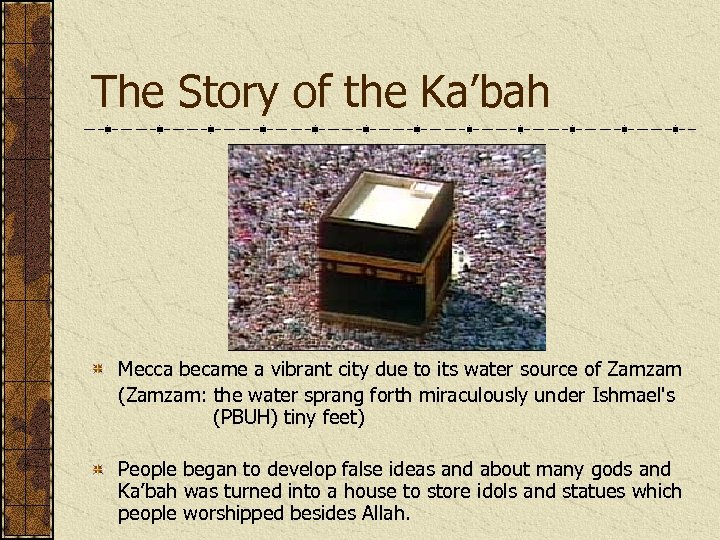 The Story of the Ka'bah Mecca became a vibrant city due to its water