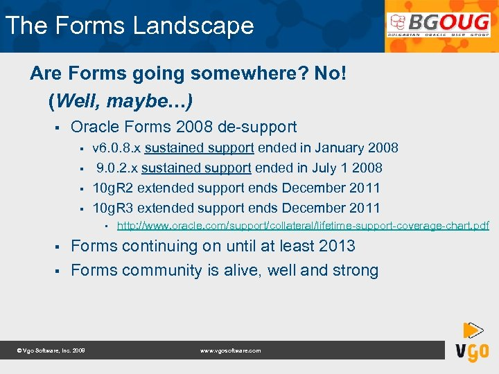Vgo Software Forms to Fusion Bulgarian Oracle Users