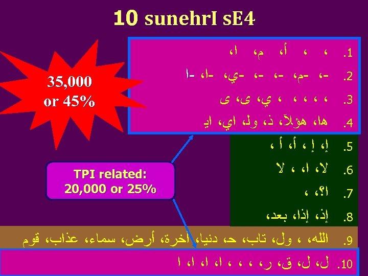 4 10 sunehr. I s. E 1. 2. 3. 4. 5. 6. 7.