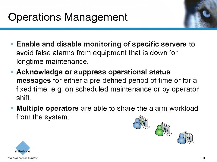 Operations Management w Enable and disable monitoring of specific servers to avoid false alarms