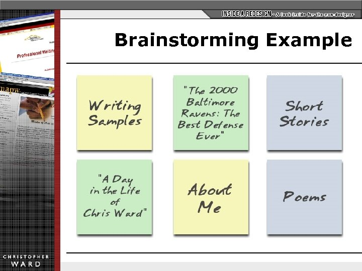 """Brainstorming Example Writing Samples """"The 2000 Baltimore Ravens: The Best Defense Ever"""" Short Stories"""