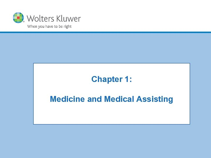 Chapter 1: Chapter XX: Chapter Title Medicine and Medical Assisting