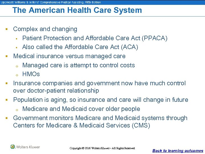 The American Health Care System § Complex and changing Patient Protection and Affordable Care