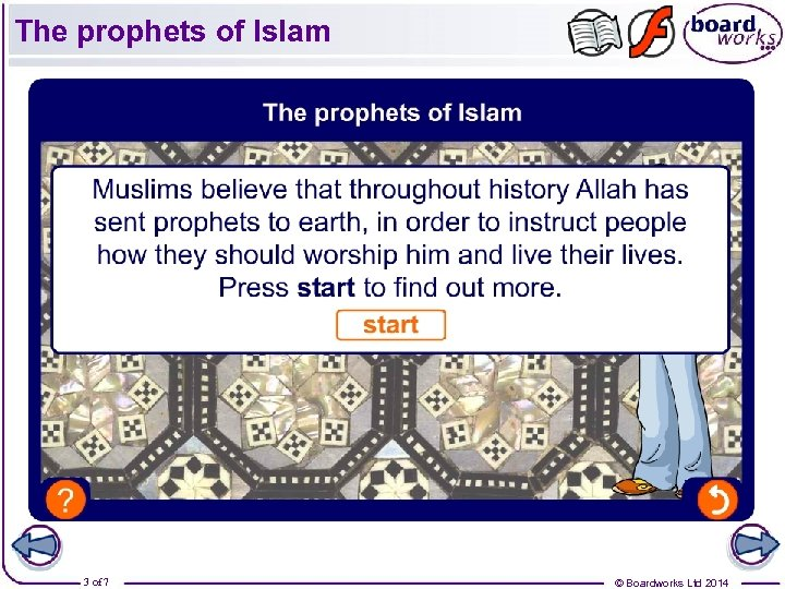 The prophets of Islam 3 of 7 © Boardworks Ltd 2014