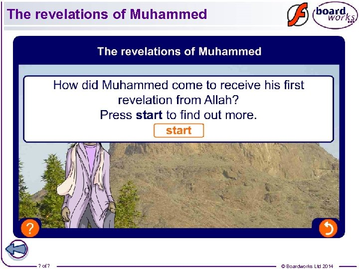 The revelations of Muhammed 7 of 7 © Boardworks Ltd 2014