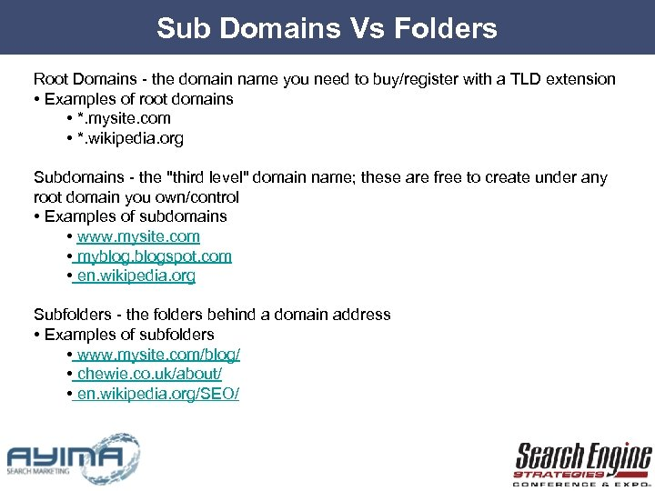 Sub Domains Vs Folders Root Domains - the domain name you need to buy/register