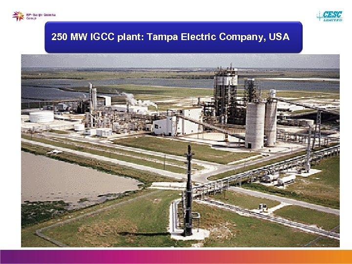 250 MW IGCC plant: Tampa Electric Company, USA