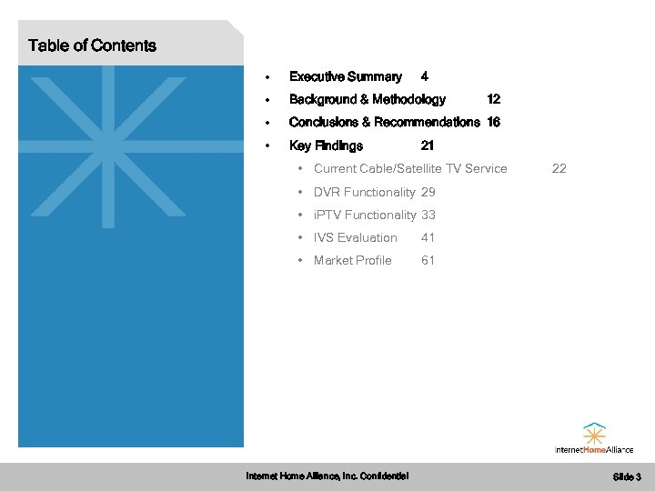 Table of Contents • Executive Summary • Background & Methodology • Conclusions & Recommendations