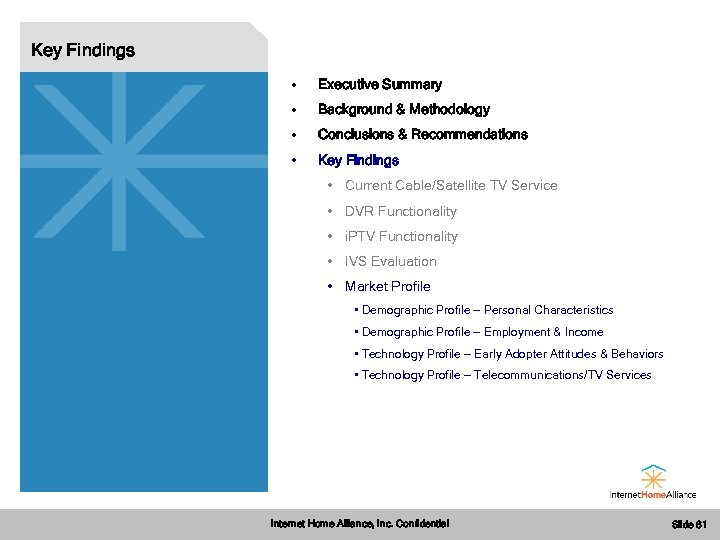 Key Findings • Executive Summary • Background & Methodology • Conclusions & Recommendations •
