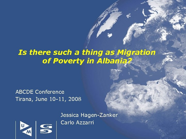 Is there such a thing as Migration of Poverty in Albania? ABCDE Conference Tirana,