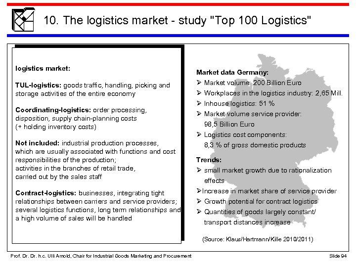 10. The logistics market - study