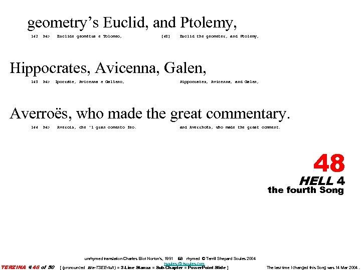 geometry's Euclid, and Ptolemy, 142 h 4> Euclide geomètra e Tolomeo, [48] Euclid the