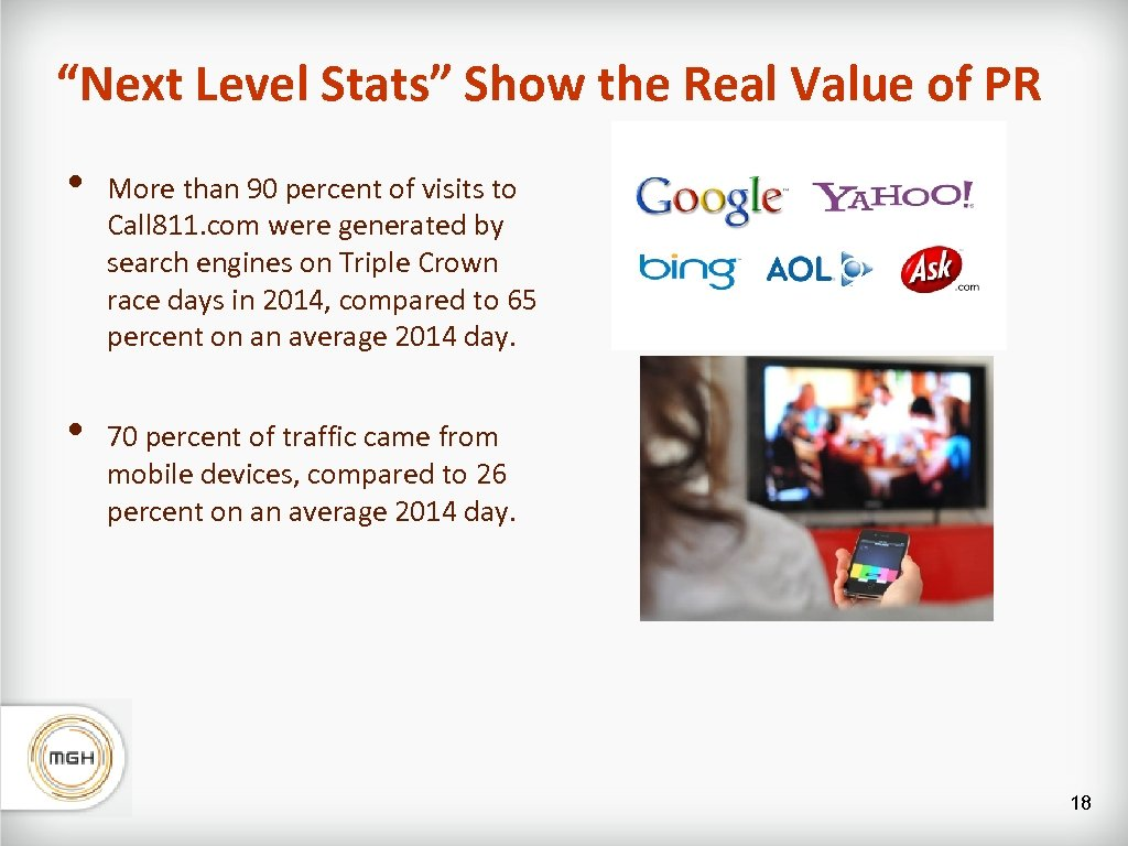 """""""Next Level Stats"""" Show the Real Value of PR • More than 90 percent"""