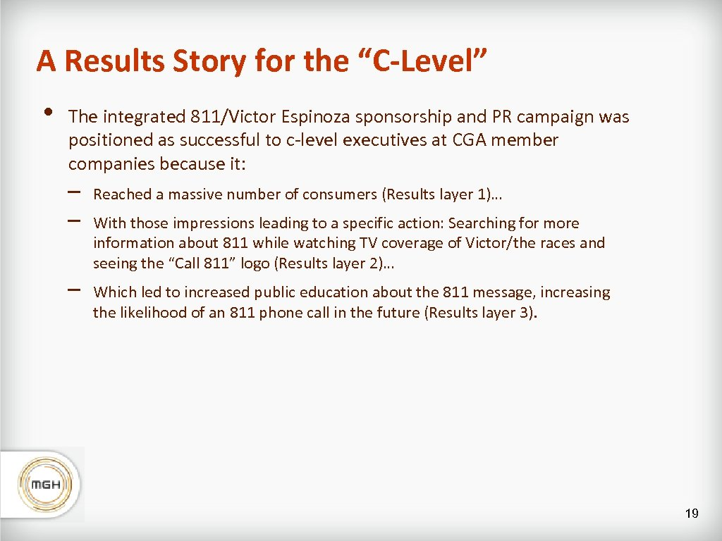 """A Results Story for the """"C-Level"""" • The integrated 811/Victor Espinoza sponsorship and PR"""