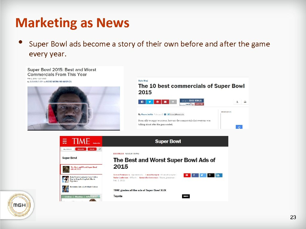Marketing as News • Super Bowl ads become a story of their own before