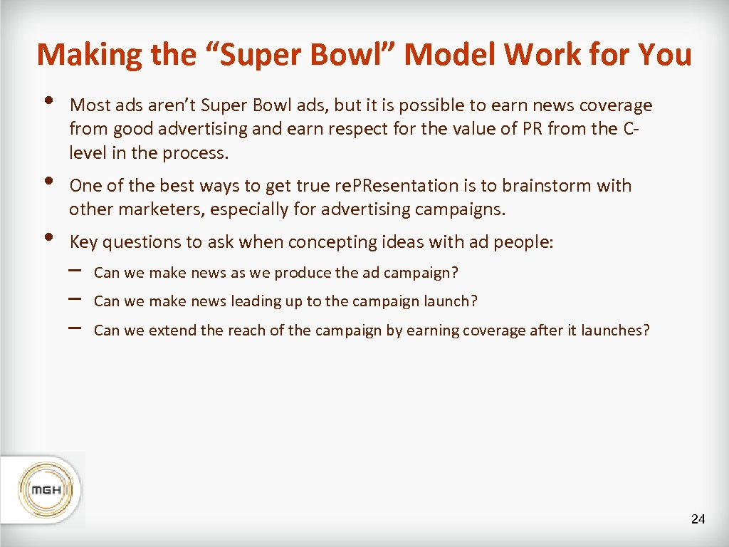"""Making the """"Super Bowl"""" Model Work for You • • • Most ads aren't"""