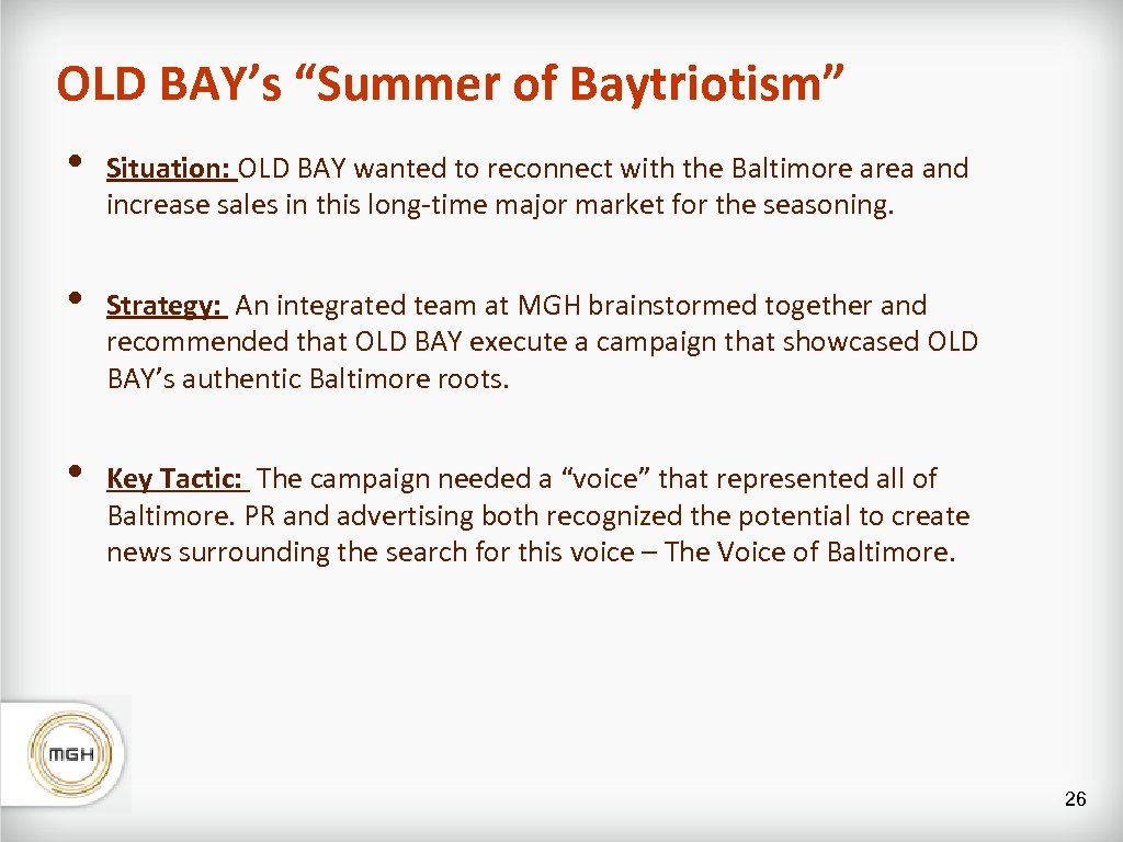 """OLD BAY's """"Summer of Baytriotism"""" • Situation: OLD BAY wanted to reconnect with the"""