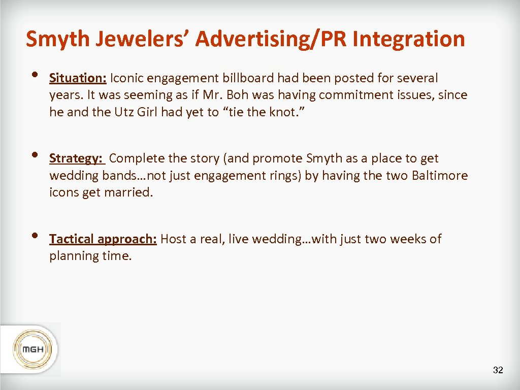 Smyth Jewelers' Advertising/PR Integration • Situation: Iconic engagement billboard had been posted for several