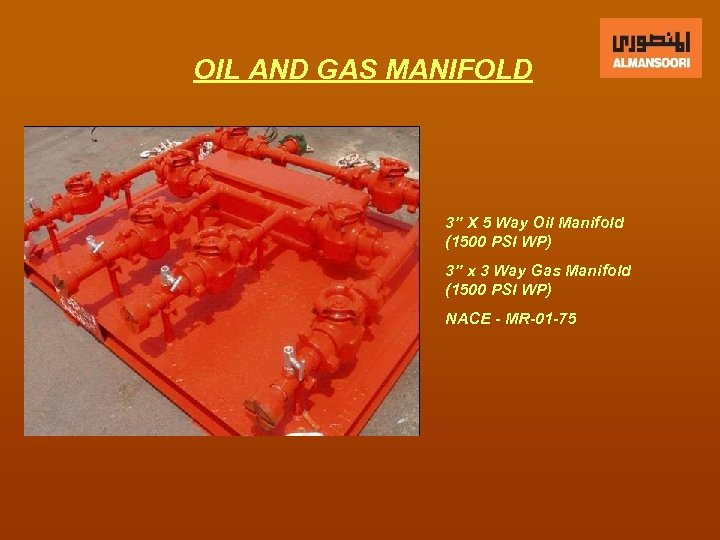"""OIL AND GAS MANIFOLD 3"""" X 5 Way Oil Manifold (1500 PSI WP) 3"""""""