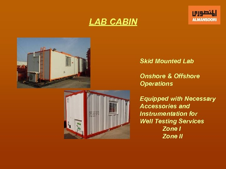 LAB CABIN Skid Mounted Lab Onshore & Offshore Operations Equipped with Necessary Accessories and