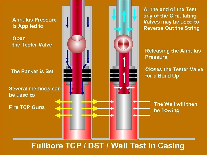 Annulus Pressure is Applied to At the end of the Test any of the