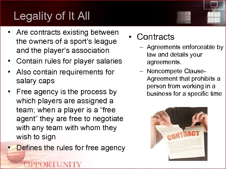 Legality of It All • Are contracts existing between • Contracts the owners of