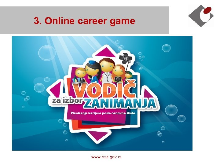 3. Online career game www. nsz. gov. rs