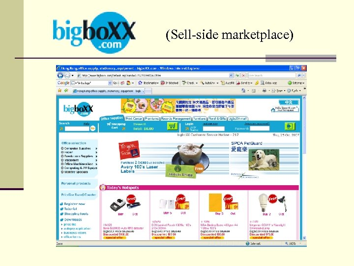 (Sell-side marketplace)