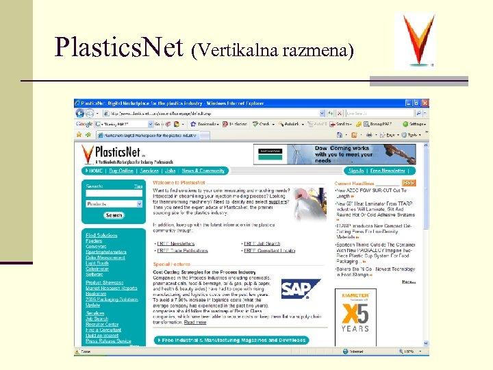 Plastics. Net (Vertikalna razmena)