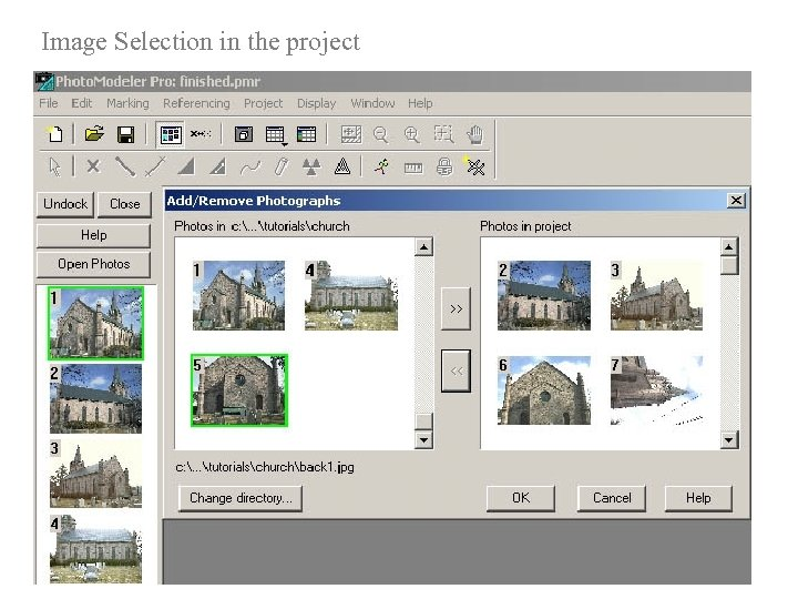 Image Selection in the project