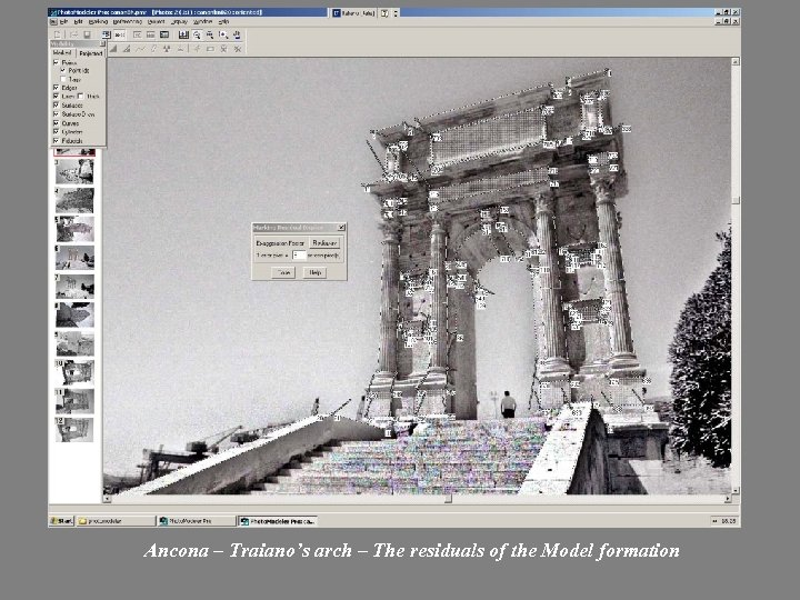 Ancona – Traiano's arch – The residuals of the Model formation